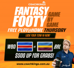 Play our very own fantasy footy game tonight! FREE as always, $500 to be won