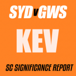 SuperCoach Significance Report: SYD v GWS