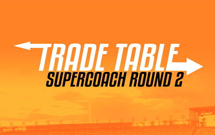 SuperCoach Trade Table Round 2