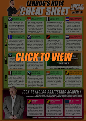 Cheat Sheet Round 14 Click To VIew